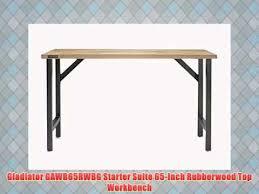 Gladiator Work Benches Gladiator Gawb65rwbg Starter Suite 65 Inch Rubberwood Top