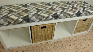 A Bookcase Turn A Bookcase Into A Comfortable Storage Bench