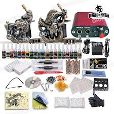 professional 2 tattoo gun tattoo kit with 20 colors tattoo ink