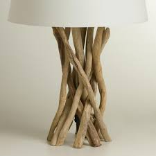 Floor Lamp Tree Branches Furniture Driftwood Table Lamp Base By World Market
