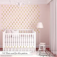 Nursery Decor Stickers Nursery Decor Hearts Wall Pattern Decals Nursery Decor