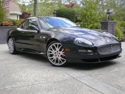 black maserati cars maserati gransport 2005 performance car stats