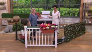set of 2 large adjustable deck u0026 railing planters on qvc youtube