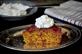 bakeaholic mama pumpkin cranberry upside down cake