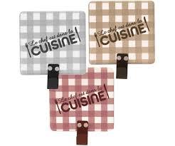 accroche torchons cuisine lot 3 pateres magnets accroche torchon design vintage vichy chef en