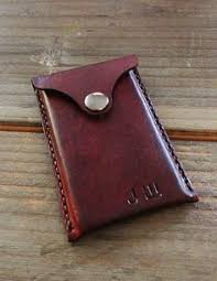 Engraved Leather Business Card Holder Not All Who Wander Are Lost Wallet Handmade Leather Wallet By