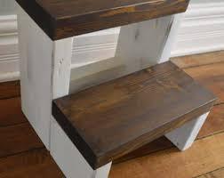 rustic segmented kids step stool toddler step stool wooden