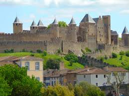 carcassonne free images town building chateau palace france tourism