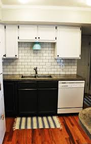 Backsplash Subway Tile For Kitchen Kitchen How To Install A Simple Subway Tile Kitchen Backsplash