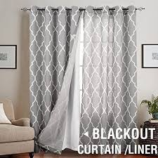 Blackout Curtains Liner Blackout Curtain Liner Thermal Insulated White Blackout Curtains