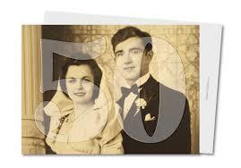 50 ans de mariage noce de quoi carte anniversaire de mariage noces d or photo planet cards