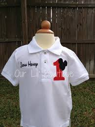 mickey mouse personalized birthday shirt by ourlilbowtique 25 00
