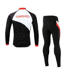 padded riding jacket tomshoo spring autumn men cycling clothing set sportswear road