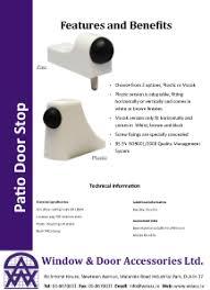 Patio Door Accessories Patio Door Hardware Window And Door Accessories Ltd