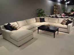 U Shaped Sectional Sofa Living Room Size U Shaped Sectional Sofa In White Color