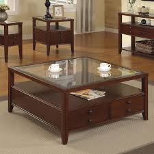 Living Room Glass Tables by Furniture Square Coffee Table With Brown Wooden Floor And Small