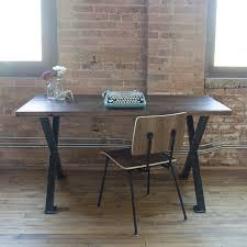 industrial reclaimed wood desk modern steel wood furniture