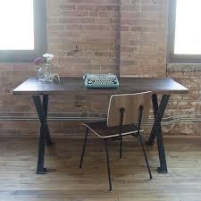 Modern Wood Desk Chair Industrial Reclaimed Wood Desk Modern Steel Wood Furniture