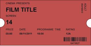 50 free raffle u0026 movie ticket templates templatehub