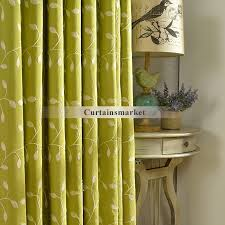 Patterned Window Curtains Pattern Cotton Country Green Window Curtains