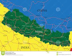 Nepal India Map by Nepal Map Stock Images Image 30450184