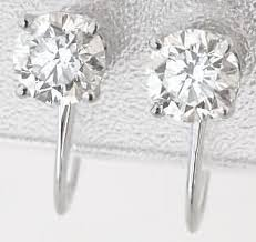 non pierced earrings 1 0 ctw diamond stud earrings for non pierced ears de 1073
