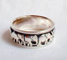 worry ring lucky elephant spinning spinner worry ring solid sterling silver