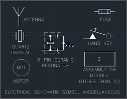 electrical schematic symbol miscellaneous free cad block and