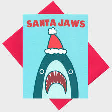 funny christmas card santa shark funny holiday card shark
