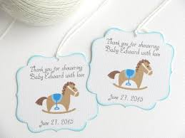 baby shower favor tags with rocking horse kids party favor tags