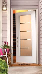 we love this contemporary door full lite smooth door with