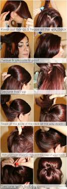 poof at the crown hairstyle hair tutorial low chignon with poof