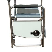 Flat Folding Chair Amazon Com Timber Ridge Aluminum Portable Director U0027s Folding