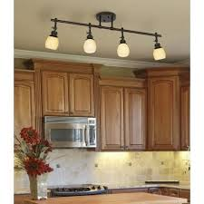 Kitchen Track Light Elm Park 4 Head Bronze Track Wall Or Ceiling Light Fixture Style