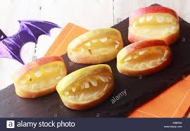 scary halloween cutouts scary halloween apples with cutout teeth in an open mouth for a
