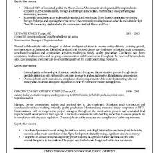 Contractors Resume Nice Looking Construction Manager Resume 15 Project Manager Resume