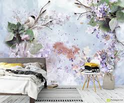 Watercolor Wallpaper For Walls by Retro Wallpaper U0026 Vintage Wall Murals Lilac Watercolor