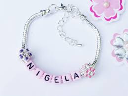Name Charm Bracelet Pink Name Charms Bracelet Pinks To View Or Purchase Full Range