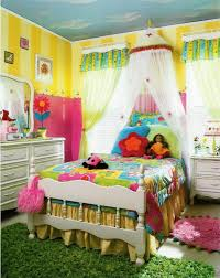 Kids Bedroom Rugs Girls Marvelous Bedroom With Colorful Bedding Set And Sheer Bed