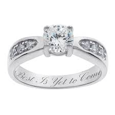engrave wedding ring sterling silver brilliant cz engraved wedding ring