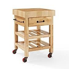 crosley furniture kitchen cart amazon com crosley furniture marston butcher block rolling