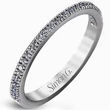 18k white gold wedding band simon g 18k white gold thin diamond wedding band