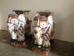 vintage ceramic elephant garden stools u2013 garden ftempo