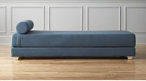 lubi blue daybed sleeper in sofas reviews cb2
