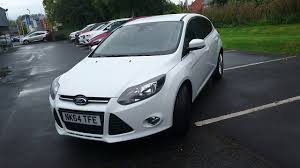 used ford focus tdci used ford focus 1 6 tdci 115 zetec navigator 5dr frozen white 2014