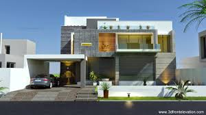 Front Elevation Beautiful Modern Contemporary House Home home design Modern House Elevation Design