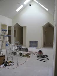 new construction painting a room that has never been painted before