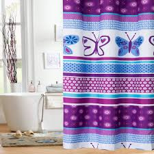White And Purple Curtains Bathroom Gorgeous Interesting Purple Shower Curtain Walmart And