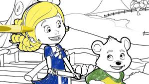 goldie u0026 bear coloring page disney junior