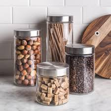clear glass canisters for kitchen canisters amazing glass canisters with wooden lids glass kitchen
